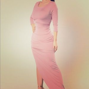 Fashion Nova Long Sleeve Maxi w/ Side Slit Size S